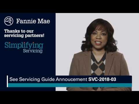Fannie Mae April 2018 Servicing Guide Update