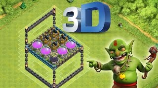 3D TROLL BASE || CLASH OF CLANS || Let's Play COC [Deutsch/German HD Android iOS PC]