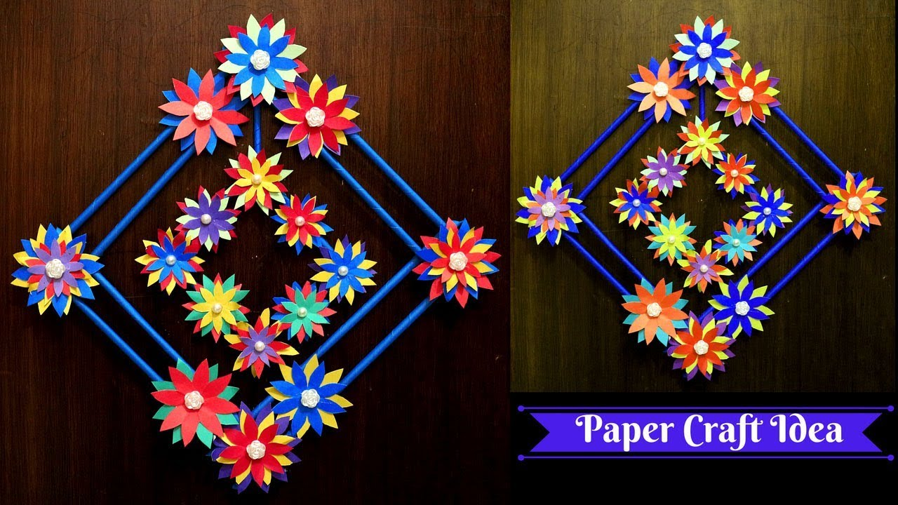 Diy Paper Flower Wall Hanging Paper Made Simple Home