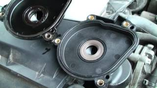 Mercedes E and M class oil leak onto exhaust simple fix