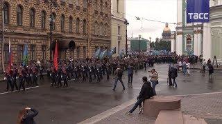 В Санкт Петербурге прошел парад в честь 87 й годовщины основания ВДВ