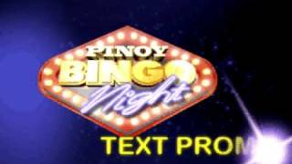 Pinoy Bingo Nights Text Promo Teaser