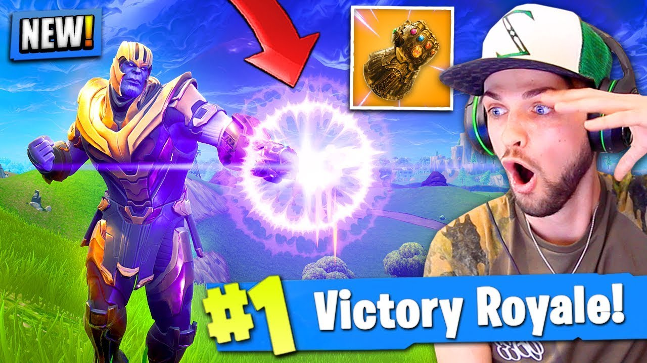 Ali A Fortnite *new* thanos gameplay in fortnite: battle royale! (infinity gauntlet)