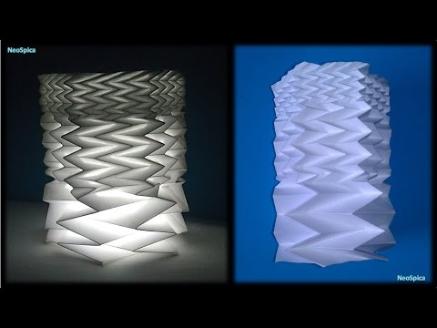 Paper cylinder with Fractal Fold - Hexagon