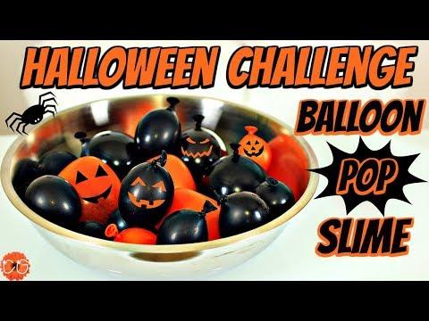 HUGE BALLOON SLIME HALLOWEEN CHALLENGE - SLIME WITH BALLOONS