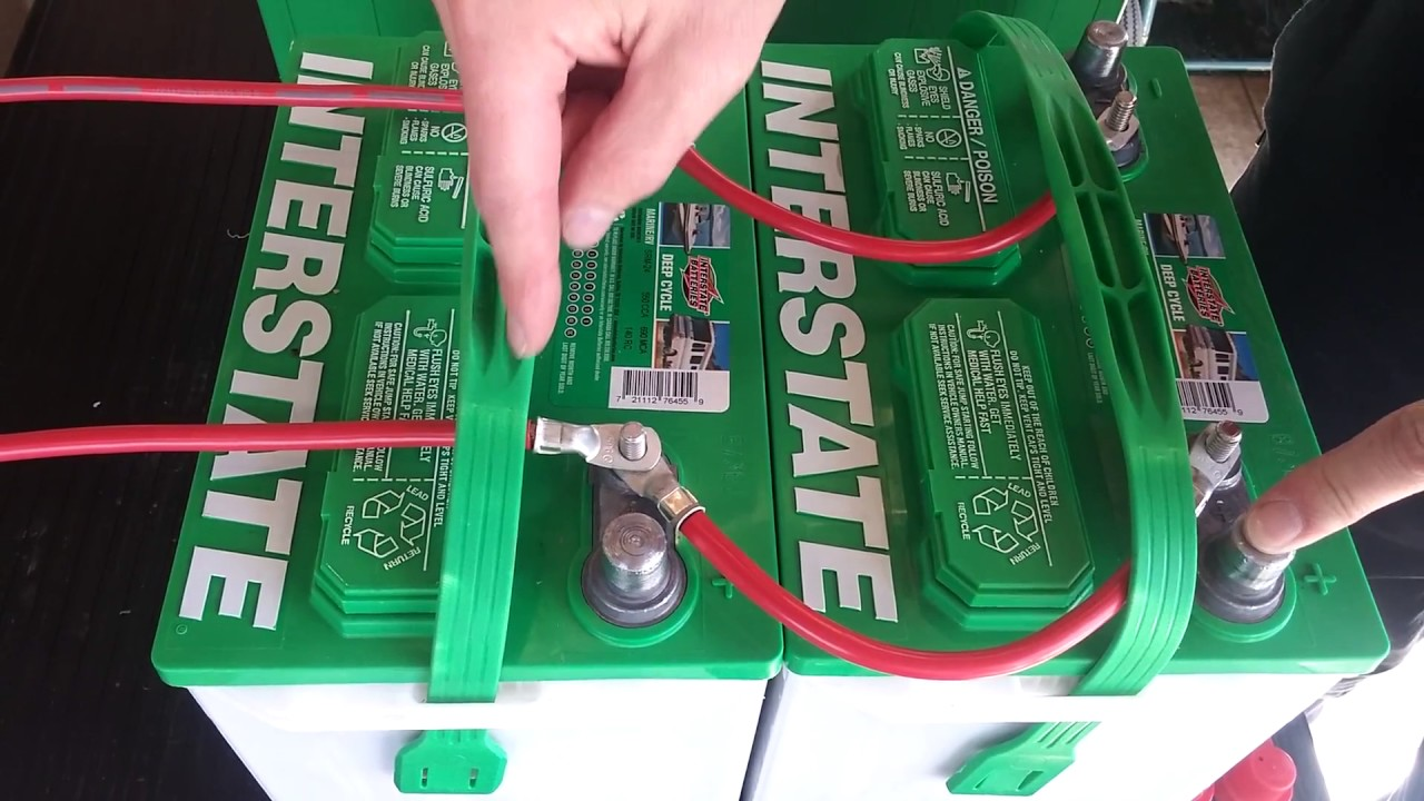 RV Battery Hookup two 12 volt vs two 6 volt batteries