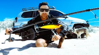 I Have Never Caught A Fish Like This Before BEACH FISHING Jetski Adventure With My Brother - Ep 178
