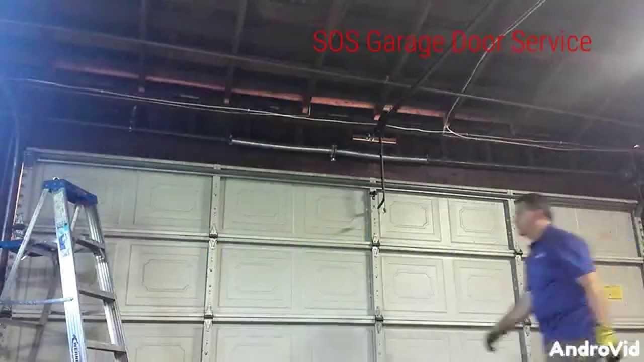 Sos Garage Door Service Spring Replacement Youtube