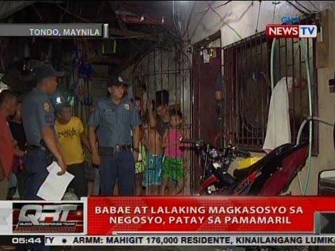 QRT: Babae at lalaking magkasosyo sa negosyo, patay sa pamamaril sa Tondo, Manila
