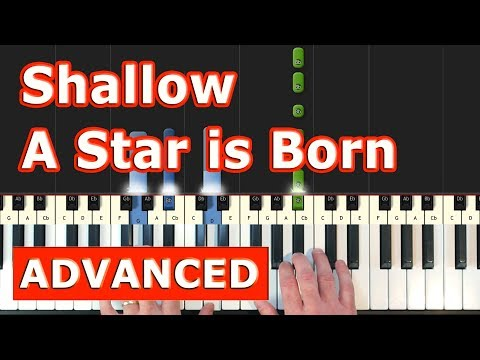 shallow---lady-gaga---piano-tutorial-easy---(a-star-is-born)---sheet-music-(synthesia)