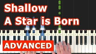 Shallow - Lady Gaga - Piano Tutorial Easy - (A Star is Born) - Sheet Music (Synthesia)