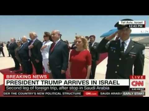 Trump arrives in Israel receiving an upgraded elaborate ceremony designed to rival Saudi Arabia