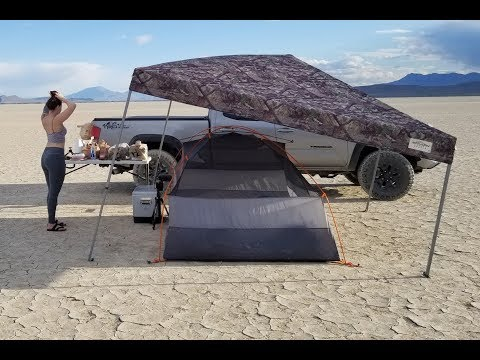 Car Tent Camping in the Desert - Alvord Desert and Hot Springs