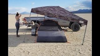 Car Tent Camping in the Desert - Alvord Desert and Hot Springs