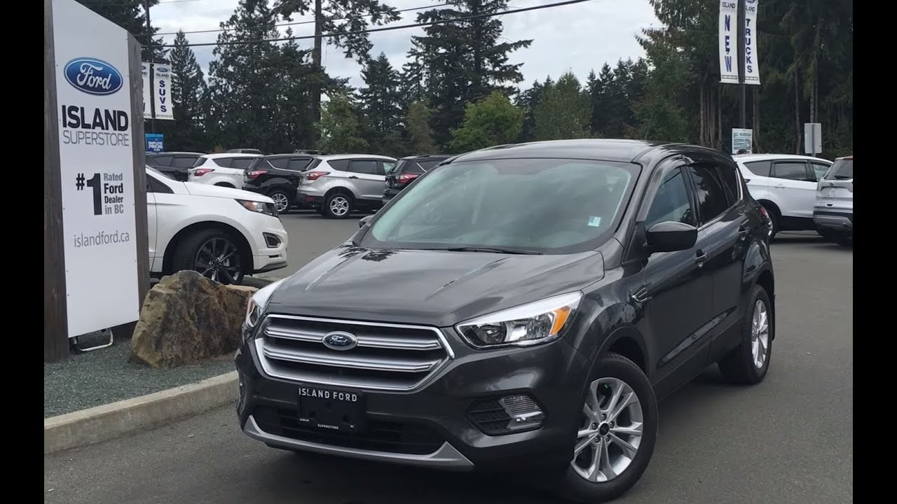 Ford Escape Titanium >> 2017 Ford Escape SE W/ Rear Seat Recline Review| Island Ford - YouTube