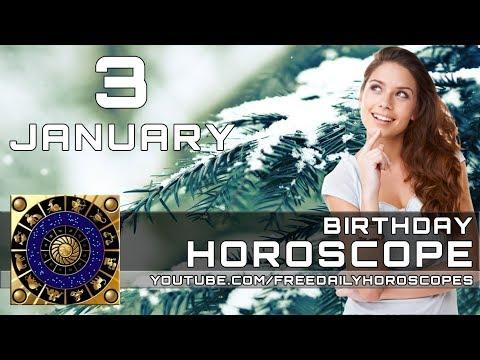 January 3 - Birthday Horoscope Personality