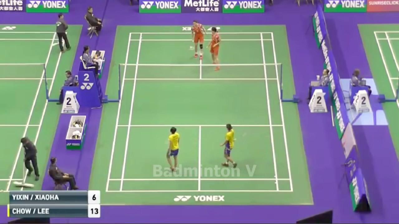 BAO Yixin YU Xiaohan vs CHOW Mei Kuan MENG YEAN Lee badminton cup