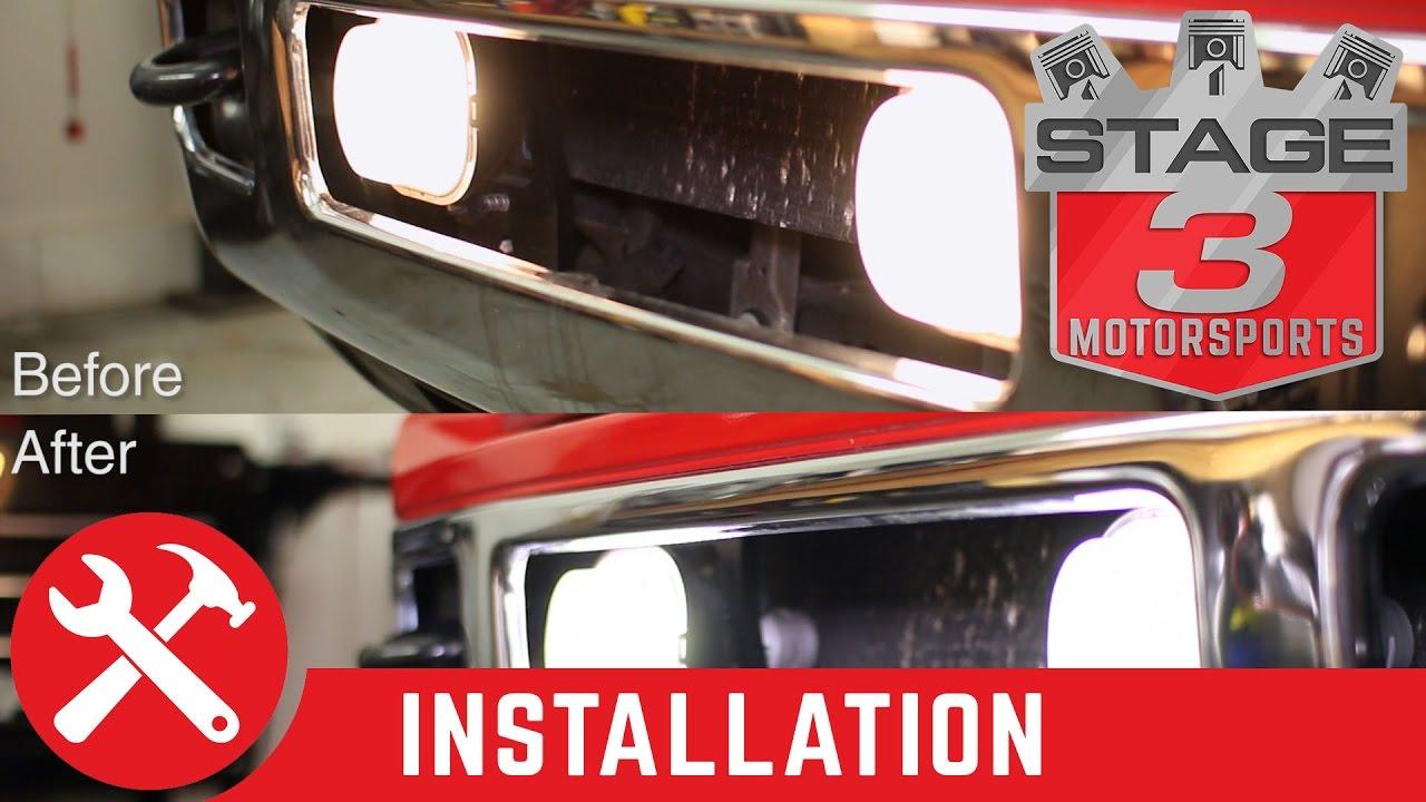 2001-2016 F-250 & F-350 Diode Dynamics LED Fog Lights Install - YouTube