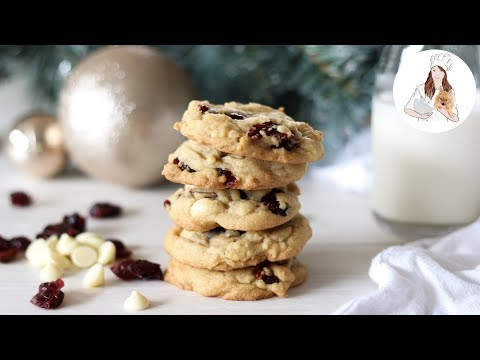 White Chocolate Cranberry Cookies Recipe | Christmas Cookies