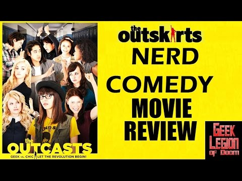 THE OUTCASTS ( 2017 Victoria Justice )  aka THE OUTSKIRTS Nerd girl Comedy Movie Review