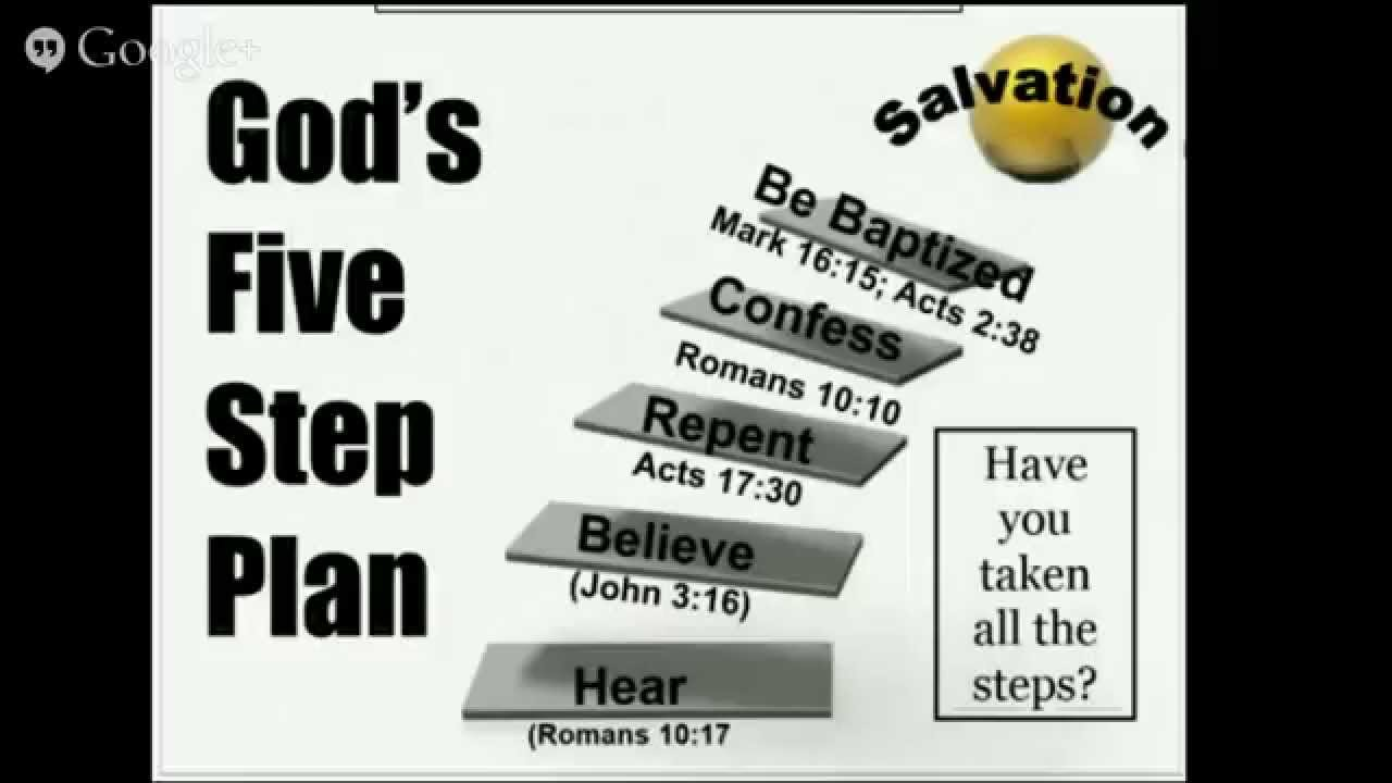 God's Five Step Plan for Salvation - YouTube