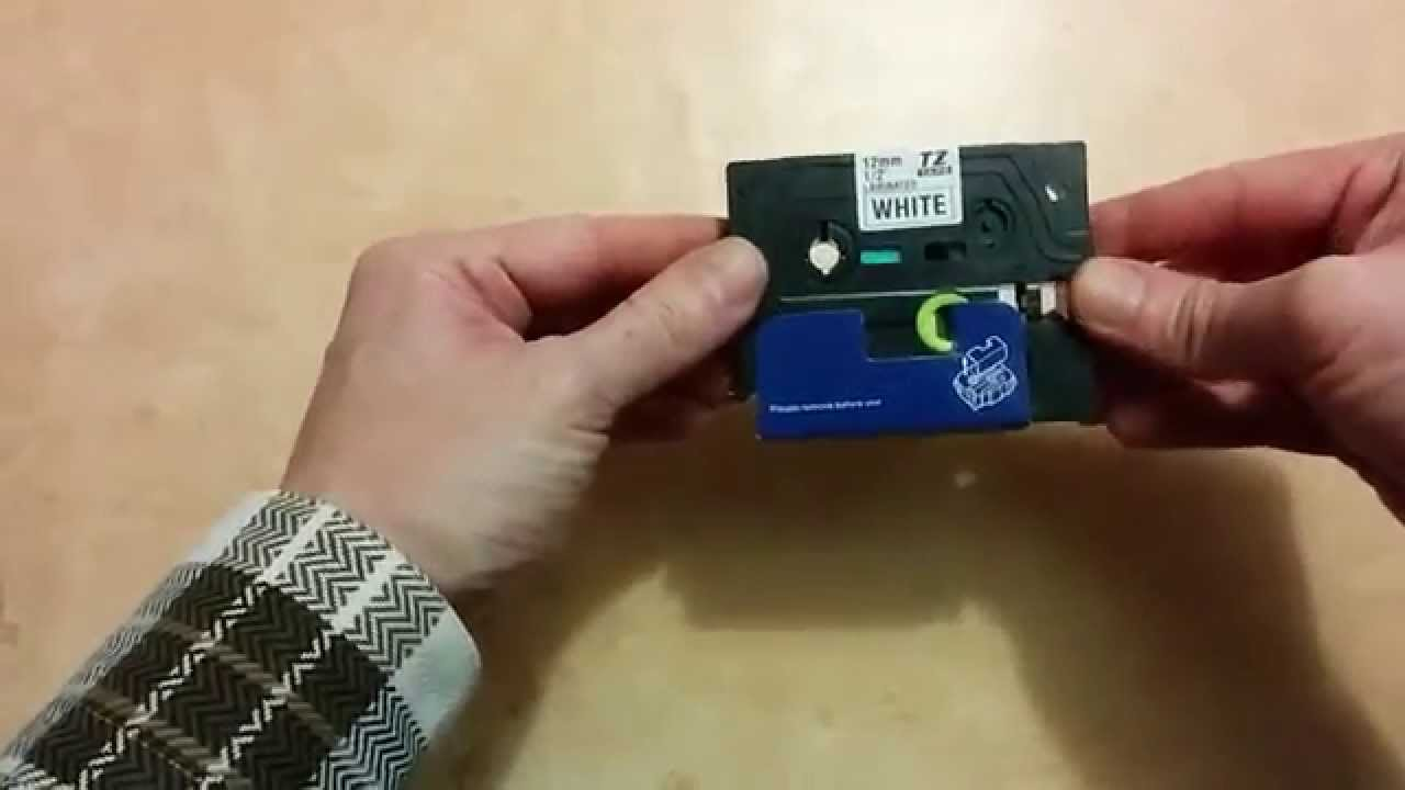 banggood tz e231 label tape installed into brother pt 1000. Black Bedroom Furniture Sets. Home Design Ideas