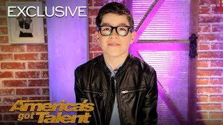 12-Year-Old Angel Garcia Chats About His Song Choice - America's Got Talent 2018
