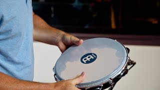 """MEINL Percussion 10"""" Pandeiro with Synthetic Head - PA10ABS-BK"""