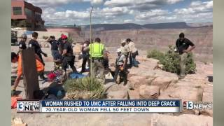 Illinois woman rescued after falling into crevice near Grand Canyon West