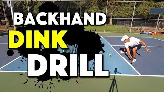 Pickleball Dink Drill | Backhand Dink
