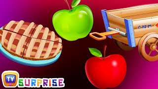 Surprise Eggs Nursery Rhymes Toys | Learn Fruits for Kids - Apple | ChuChu TV Egg Surprise