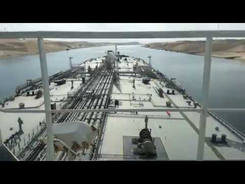 Suez Canal Transit Timelapse - Southbound Passage - 274 meters Crude Oil Tanker