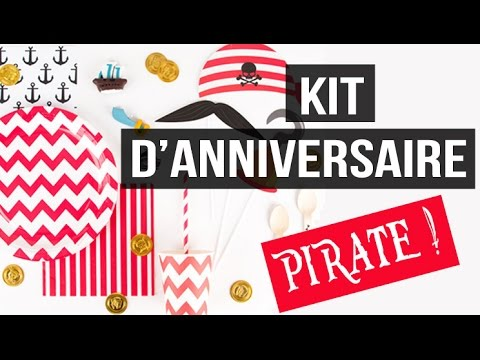 kit anniversaire pirate d co pirate youtube. Black Bedroom Furniture Sets. Home Design Ideas