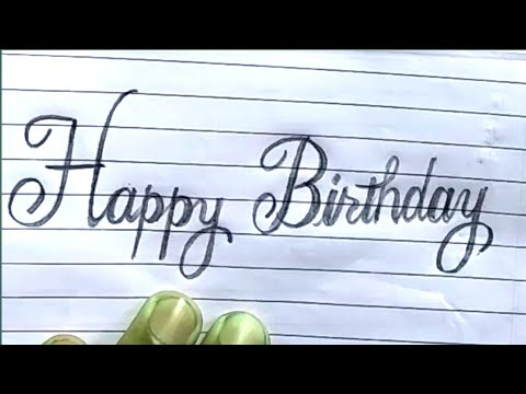 Cursive Fonts|How To Write Happy Birthday In Cursive(calligraphy) Fonts| Happy Birthday Fancy Style