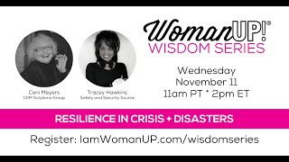 Wisdom Session * Resilience in Crisis and Disasters