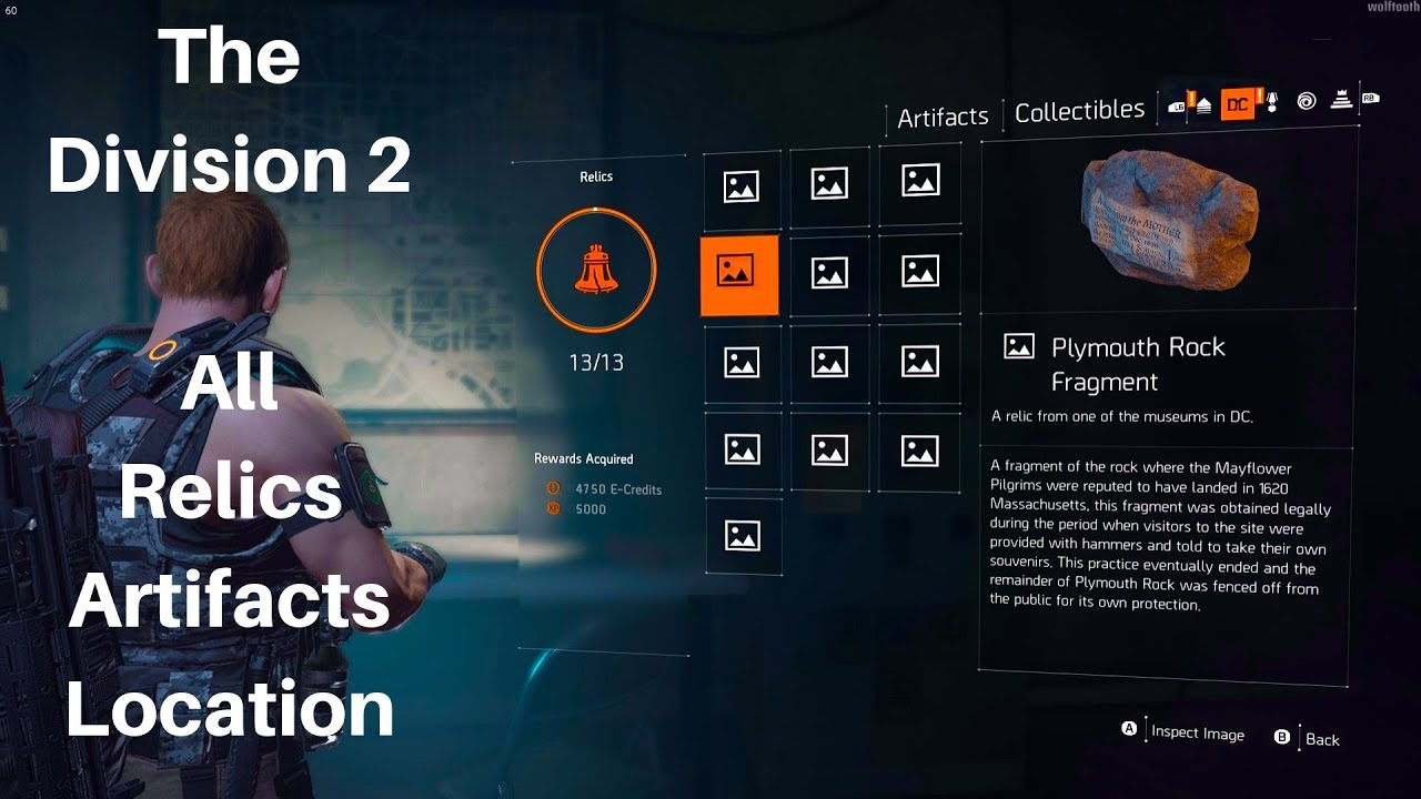 045ac22b0e27 The Division 2 - All Relics Artifacts Location ( All Collectibles ...