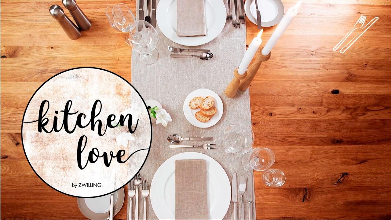 Tisch Decken Pic : Zwilling kitchen love tisch decken für gänge youtube