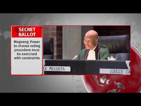 Speaker does have the power to order Secret ballot vote: ConCourt