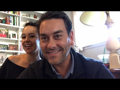 Clayton and Natali discuss financial freedom in a YouTube video.