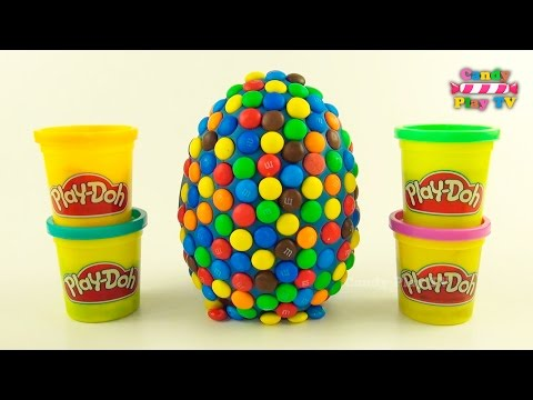 Thumbnail: Huge Play Doh M&M's Surprise Eggs With Toys | Disney Mickey & Minnie Mouse | Jelly Animals for Kids