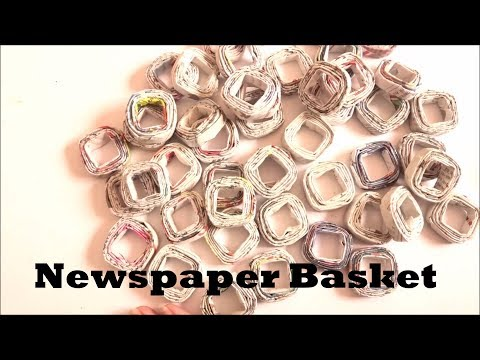 DIY | Recycled Newspaper Basket/Box - Super Easy Tutorial! - NewsPaper Square Basket