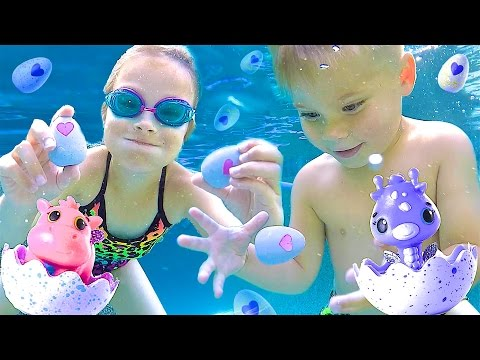 HATCHING NEW HATCHIMAL EGGS UNDER WATER! - Limited Edition Hatchimal CollEGGtibles!