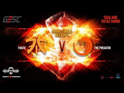 [DOTA 2 LIVE PH]TNC PREDATOR VS FNATIC |Bo5| GESC: Thailand  Minor  Regional Qualifiers GRAND FINALS