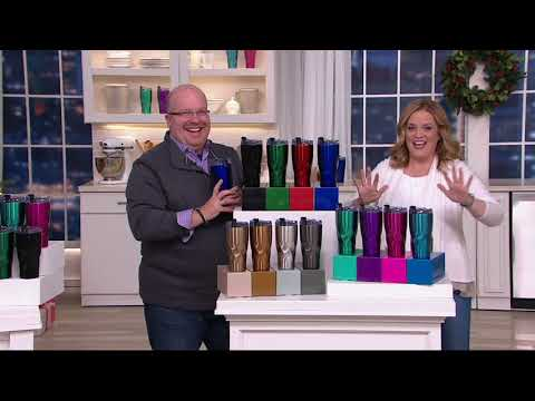 Primula Avalanche S/4 20oz. Hydration Tumblers with Gift Boxes on QVC