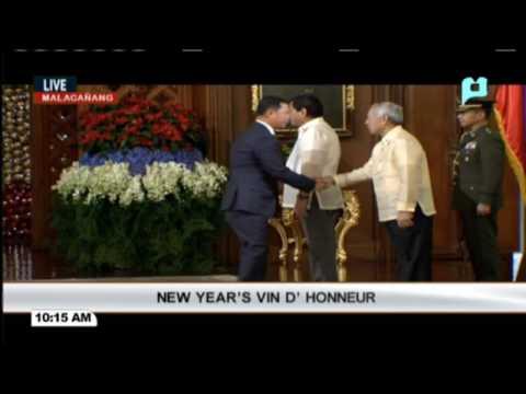 New Year Vin D' Honneur sa Malacañang Palace sa pangunguna ni Pangulong Rody Duterte