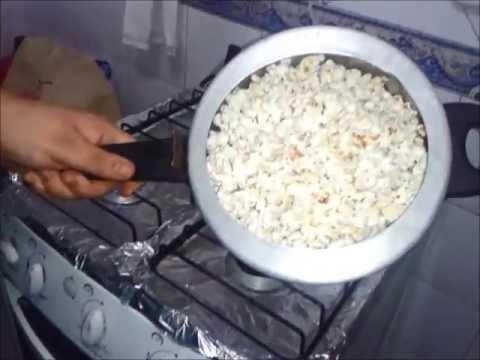 Como fazer pipoca na panela