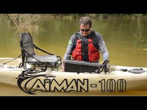 Caiaque Caiman com Motor, Pedal ou Remo - Lançamento Hidro2Eko 2016 - Kayak Fishing - Leogafanha