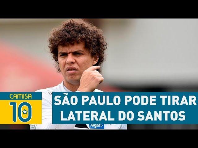 SÃO PAULO pode tirar lateral do SANTOS em 2018!