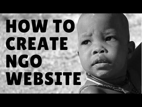 how to create ngo website