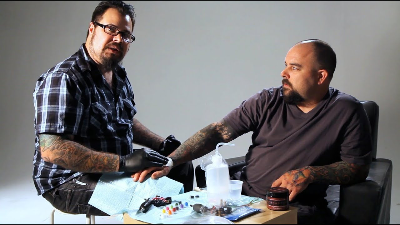 How to bandage a tattoo tattoo artist youtube for Tattoo bandage removal